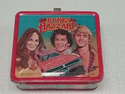 VINTAGE THE DUKES OF HAZARD 1980 Aladdin lunch box with THERMOS