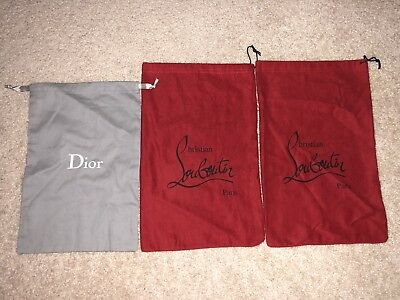 Christian Louboutin And Christian Dior Dust Bags