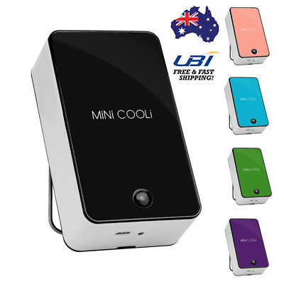 Mini Rechargeable Handheld Air Conditioning Cooling Fan Cooler USB Portable AU