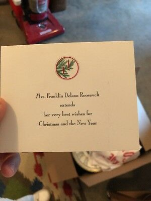 Eleanor Roosevelt Christmas Card First Lady