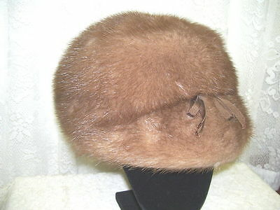 Antique Light Brown  Fur Hat By Miss Allegra , Furs