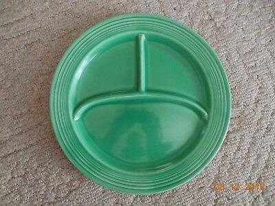 "Vintage Fiestaware Green Compartment Plate Fiesta 10.5"" Divided Grill"