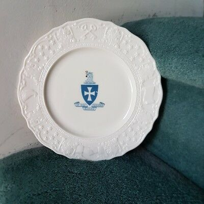 Rare Sigma Chi fraternity Lenox plate w/ color crest and border symbols - Wow!