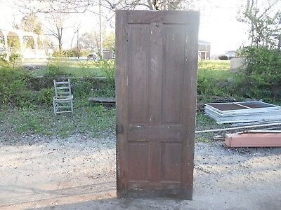 Antique 4 Vertical Raised Panel Door Victorian?  81&1/2 inches  Fitted Joints