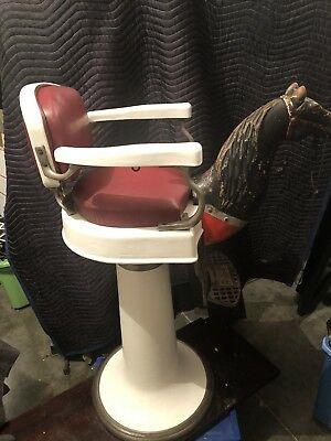 emil j paidar kid barber Chair with Wood horse head