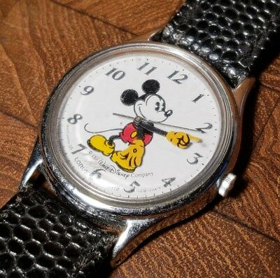 Vintage 1980's Lorus Mickey Mouse Quartz Character Wrist Watch