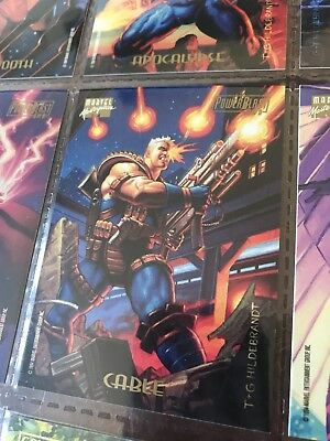 1994 Marvel Masterpieces Power Blast Card, 3 Of 9 CABLE, X-men
