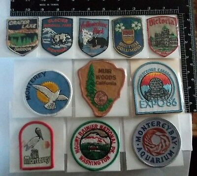 (11) Great Vintage Patches From Pacific Northwest Landmarks & Parks Great Cond.