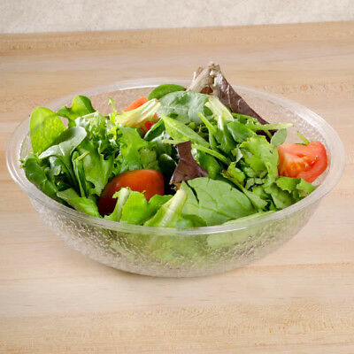 "Cambro® PSB8176 Clear 8"" Round Pebbled Salad Bowl 1.67 Qt- 12pc/Case"