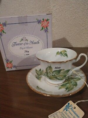 May Flower of the Month Cup and Saucer - Royal Albert 1970 - With box! Flawless