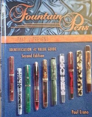 ANTIQUE FOUNTAIN PEN ID PRICE GUIDE COLLECTOR'S BOOK Large hardback All color
