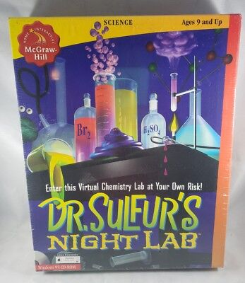 Dr. Sulfur's Night Lab Windows 95 CD-ROM (SEALED IN BOX!)