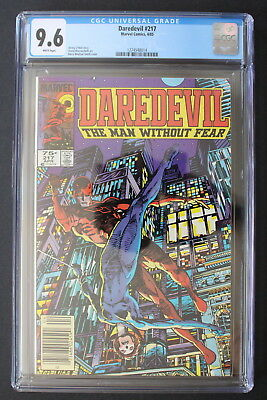 DAREDEVIL #217 BLACK WIDOW Barry Windsor-Smith GGA 1985 Canadian VARIANT CGC 9.6