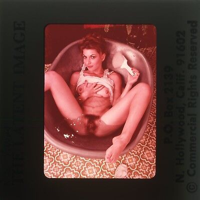 *RITA AVERY* VINTAGE 70's LATENT IMAGE NUDE GIRL 35mm PHOTO SLIDE NU-652