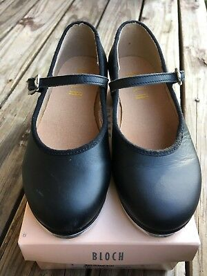 As New Girls Bloch Tap Dance Shoes Size 10 Black Techno Tap Dancing