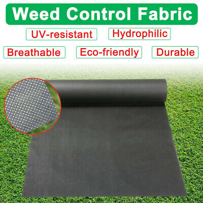 1M Wide Membrane Weed Control Fabric Garden Mulch Ground Sheet Cover Landscaping