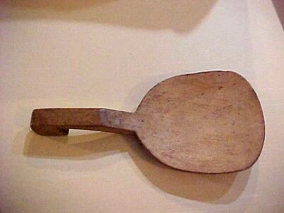 "Antique 1800s  Maple Wood Butter Scoop/pattle Hand Carved 10"" x 4  3/4"""