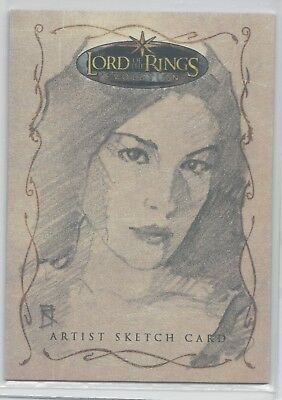 2006 Lord Of The Rings Lotr Evolution Russ Walks Sketch Card Of Arwen