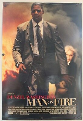 """Man on Fire 2004 Double Sided Original Movie Poster 27"""" x 40"""""""