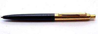 Vintage CARAN d'ACHE CIBA Ecridor Type 55 Black Barrel Gold Trim