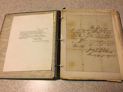 Binder With 16 Original Civil War Letters And Accompanying Printed Text