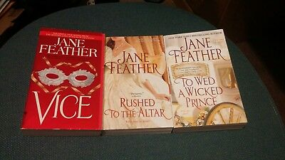 Lot of 3 Jane Feather Historical Romance Paperback Books