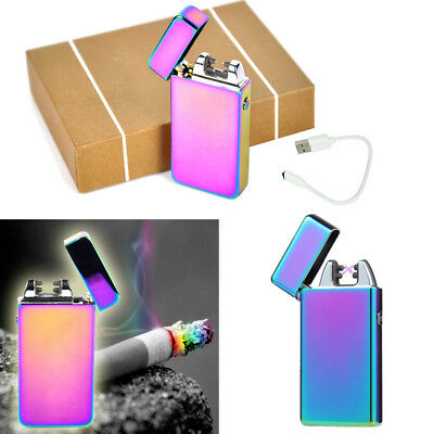 USB Rechargeable Electric LIGHTER Double ARC PULSE Flameless Plasma Clipper