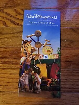 Disney World 4 Parks Brochure: Epcot, Magic Kingdom,Toy Story,Animal K. 28 Pages