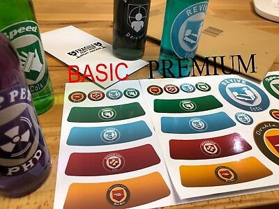 Call of Duty Zombies Perk a Cola Bottle Labels Glossy Basic - Black Ops 1 2 34