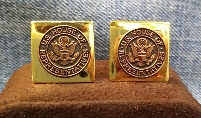 U.S. House Of Representatives Gold Tone Cuff Links