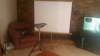 projector screen (127cmx127cm) and projector stand