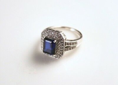Samuel Aaron, Sterling Silver and Rhinestone Ring - 8835-1