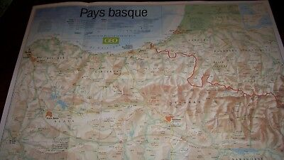 Poster La Carte Du Pays Basque