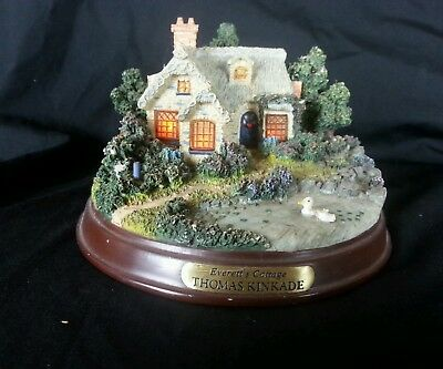 Thomas Kinkade Everett's Cottage Light Up Cottage