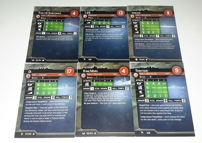 Axis and Allies Japanese Nippon War at Sea Card Lot of 6 FREE SHIPPING!