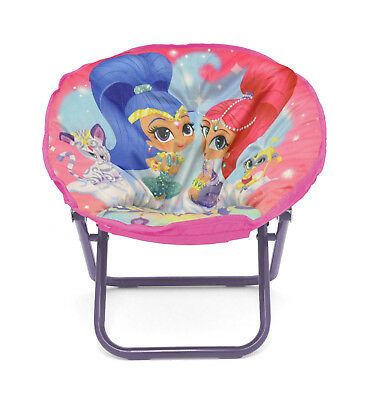 Shimmer And Shine Mini Saucer Chair Collapsible Lounge Kids Toddler Comfy Seat