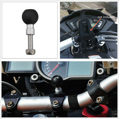 """Motorcycle Bike Handlebar Clamp Base With M8 Screws Threaded Bolt 1"""" Rubber Ball"""