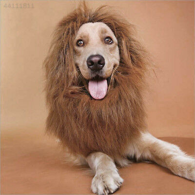 F4B3 New Pet Furry Lion Mane Wig Halloween Party Costume Dress up Supplies