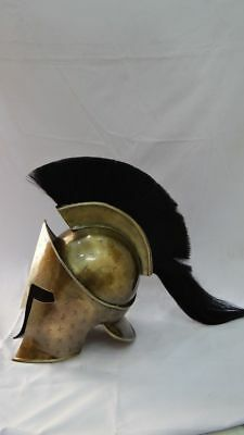 Medieval 300 Movie King Spartan Helmet ~Ancient Armour HY78KLB OLD BRASS FINIS