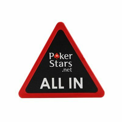Big 75 mm Triangle Acrylic Red Black ALL IN Button PokerStars Dealer Poker Game