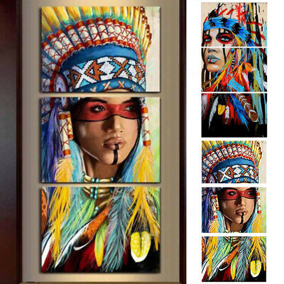 New Unframed Indian Style Modern Art Oil Painting Canvas Picture Home Wall Decor