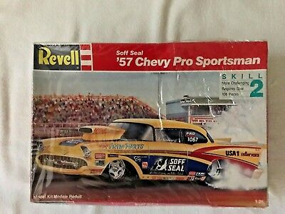 revell soff seal 57 chevy pro sportsman factory sealed 1 25 scale