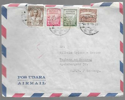 Indonesia 1956 Cover With Various Stamps To Germany My Ref  202