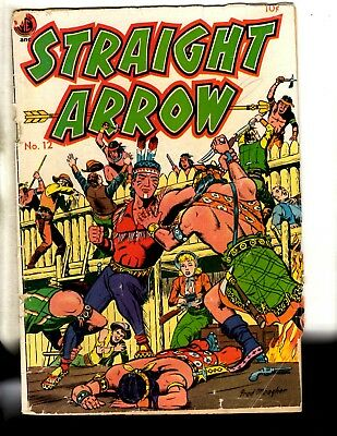 Straight Arrow # 12 VG ME Comic Book Silver Age Indians Cowboys Meagher Cov JL9