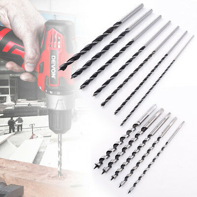 Long Reach Wood Drill Bits Brad Point Lip Spur HSS Turbo Pilot Start Point