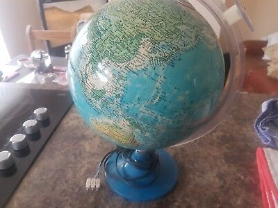 world globe with built in magnifying glass