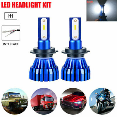 2X H1 50W 8000LM COB LED Headlight Bulbs Conversion Kit Hi/Lo Beam 4300k Car