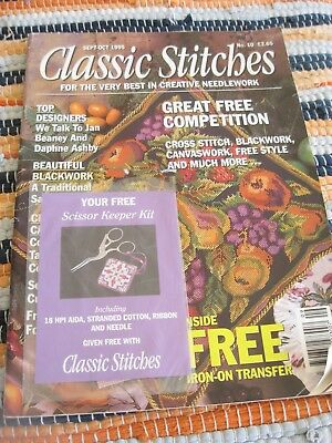 Classic Stitches Sept-Oct 1995 No. 10 from the UK includes cover kit