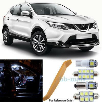 For Nissan Qashqai J10 2007-2013 LED Interior Kit Premium 9 SMD Bulbs HID White