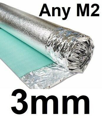 3mm Silver Comfort Underlay - Wood or Laminate Flooring Acoustic Insulation